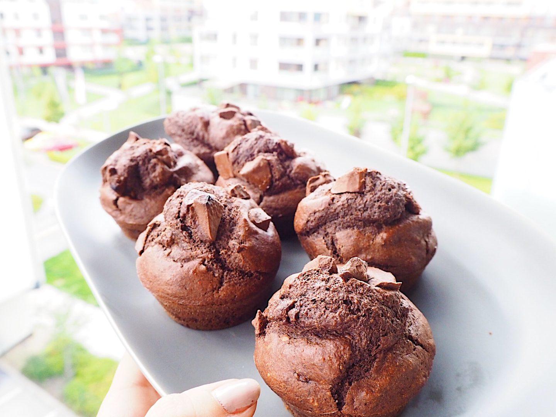 brunettie recept pečení healthy muffins muffiny fitness chocolate čokoláda