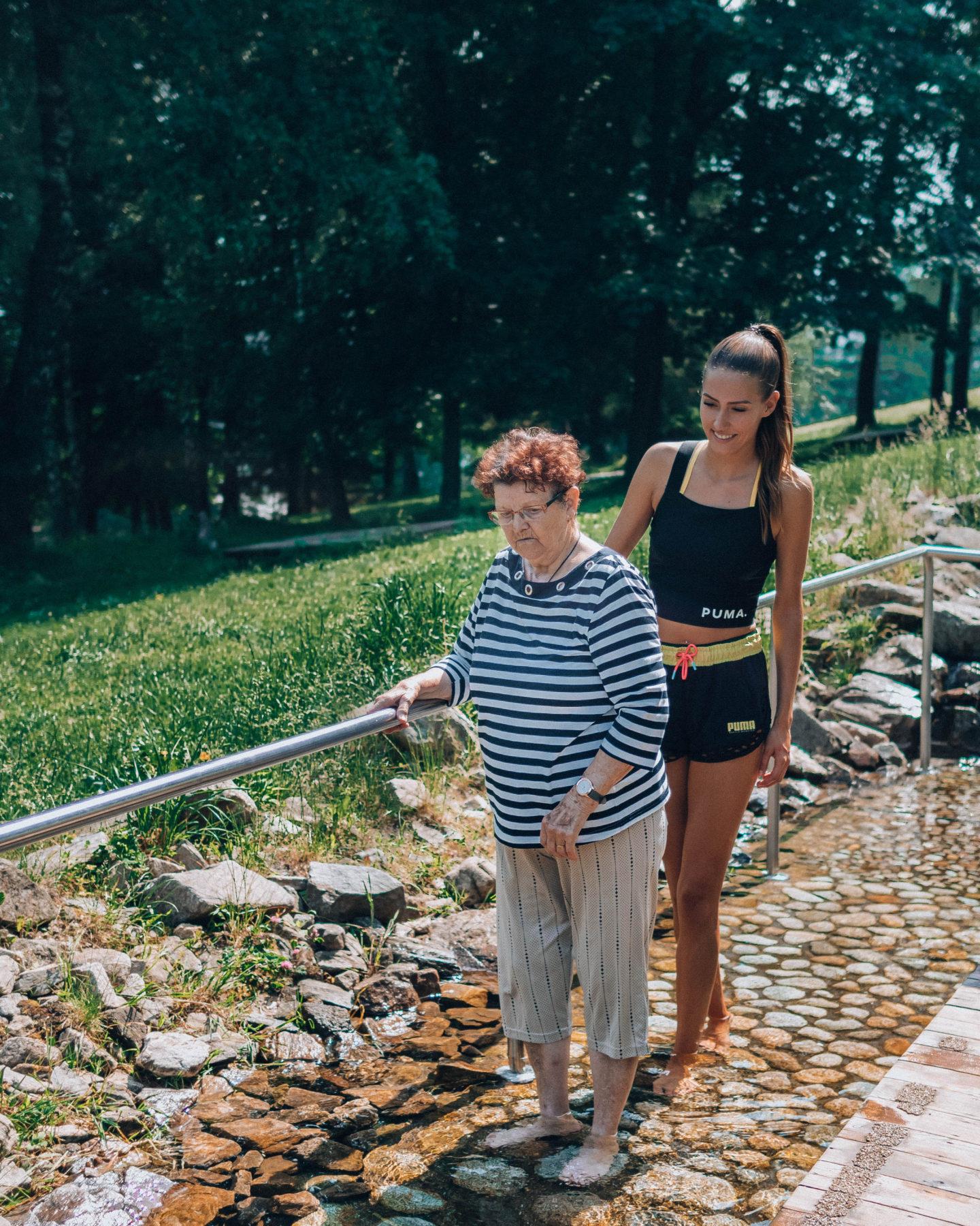 jeseník jeseníky výlet brunettie priessnitzovy lázně promenáda balneopark prissnietz babička