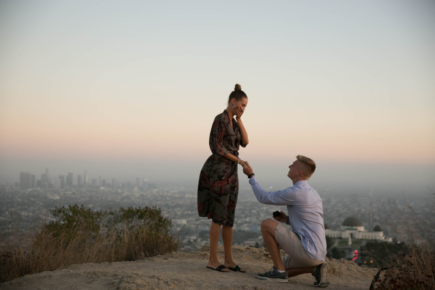 engagement žádost o ruku proposal brunettie los angeles bride to be